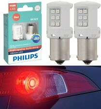 Philips Ultinon LED Light 1156 Red Two Bulbs Stop Brake Rear Replace Upgrade OE