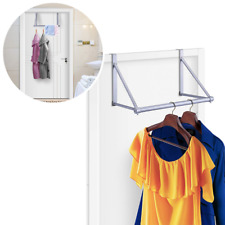 Cloth Hanging Stand Over The Door Home Office Closest Hanger Holder Metal Rod