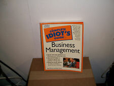 The Complete Idiot's Guide: Complete Idiot's Guide to Business Management by Hap