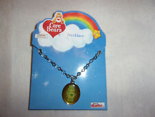 Care Bears Grumpy Silver Tone Chain Clear Color Beads Child's Necklace/Pendant