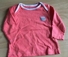 BABY GIRLS ORANGE TOP FOR 0-3 MONTHS FROM NUTMEG EXCELLENT CONDITION