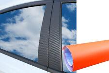 6x PREMIUM A B C Säule Tür Leisten Abdeckung Auto Folie Wrap Set Orange Matt