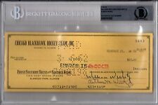 BECKETT-BAS BILL-WILLIAM W. WIRTZ & ELMER VASKO SIGNED 1962 HAWKS CHECK #5483