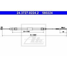 ORIGINAL ATE Handbremsseil Bremsseil BMW 3er E46 Bj.98-