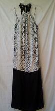 Maxi Dress Size 8 BNWT Black Animal Print Halter Summer Evening Party Occasion