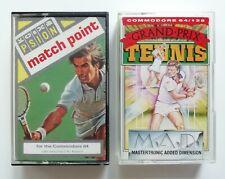 Grand Prix Tennis / Match Point - Commodore 64 CBM64 C64 Cassette Game Twin Pack
