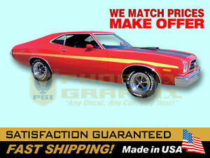 compatible with, 1973 Ford Gran Torino Decal Graphics Racing Stripe Kit