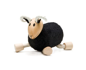 ANAMALZ RA2010: Black Ram, Collectable Wooden Toy NEW