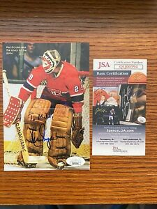 Ken Dryden signed Montreal Canadiens magazine Page JSA certified