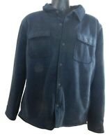 USED Men's Rugged Element Button Down Sherpa Lined Shirt Jacket w/Pockets
