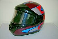 XL BELL Polaris Full Face Helmet Snowmobile ATV Indy Wedge Metal Flake NICE