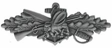 Navy Seabees Combat Service 2 3/4 inch hat lapel pin H16267ansiD168