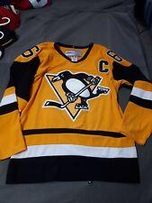 NHL Pittsburgh Penguins Jersey Mario Lemieux Vintage Style Used Size 50