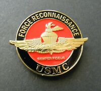 FORCE RECON US MARINES MARINE CORPS USMC LAPEL HAT PIN BADGE 1.5 INCHES