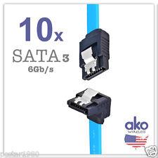 """NEW! 10x 18"""" SATA3 DATA CABLE Serial ATA SATA Right Angle HDD Hard Drive 6Gb/s"""
