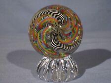 "Marbles: Hand Made Art Glass Alloway Dichroic ""Supernova.2"" #88   2.52inch"