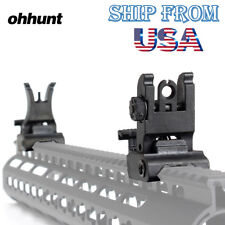 Ohhunt Folding Front Rear Sights Polymer Flip Sight Black For Picatinny Rail