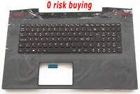For Lenovo IdeaPad Y70 Y70-70 Keyboard Nordic Swedish Danish FI Backlit Top case
