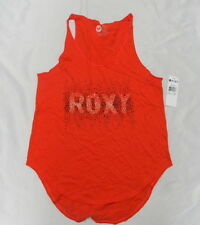 Roxy Women Small Tank Top Orange Pebbles