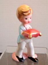 Josef Originals Figurine Wedding Ring Bearer Boy Figurine ~ 4 Inches Tall