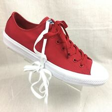 fedaeba82abf CONVERSE Chuck Taylor II All Star CT II OX Sneakers Salsa Red White size 11