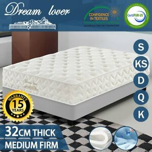 Dream Lover LUXURY MATTRESS King Queen & Double Pocket Spring Natural Latex Bed