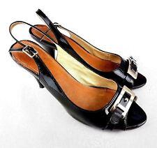 Moda in Pelle Womens Heels Leather Black Size 7
