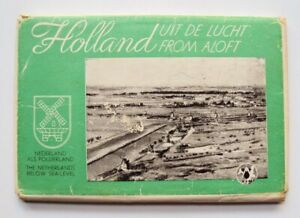 Holland Netherlands AERIAL VIEW 20 POSTCARDS PHOTOS PC SET KLM AIRLINES 1950'S