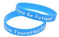 Adult Tourettes Medical Insulin Alert Silicone Wrist Band Bracelet UK SELLER