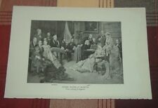 1911 Composer Wilhelm RICHARD WAGNER AT BAYREUTH Franz Liszt at piano Print