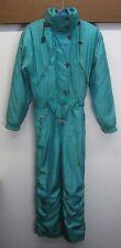 vtg Killy Ski Suit retro one-piece shiny teal nylon poly-fill women's sz 8