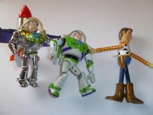 Toy Story Buzz Lightyear The Big One Rocket Woody DISNEY Figures Lot of 3