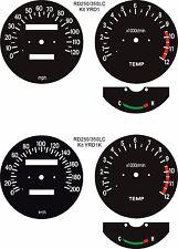 Refrigerado por agua RD250 RD350 RZ250 RZ350 LC Marte Speedo Reloj Dial caras superposiciones