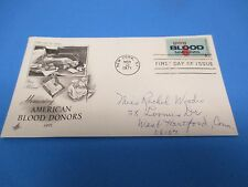 First Day Cover, Honoring American Blood Donors, 1971, FDC