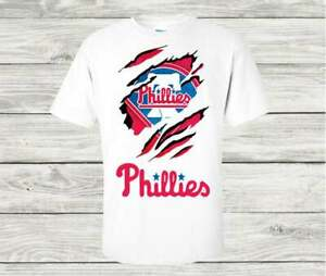 Philadelphia Phillies MLB Baseball Team T Shirt Funny White Cotton Tee Gift Men