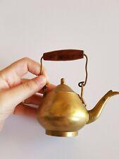 Vintage Tea Pot Brass Copper Miniature Kettle Handle Smal Size Beautiful Teapot