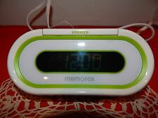Memorex W-207 Greeen Clock Radio Euc