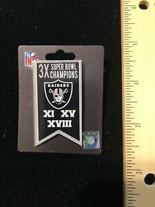 NEW 2020 Issue Las Vegas Raiders Championship Banner Lapel Pin NFL Licensed