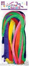 "Pipa limpiadores de color de 20 ""Palitos De Chenille X 20 Jumbo Fluffy Colores Variados"
