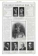 1916 General Peter Boyovitch Serbian Army Wf Massey Sir James Carroll