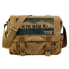 52984beb06 Vintage Canvas Satchel School Military Men s Hiking Shoulder Bag Messenger