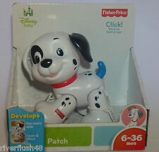 DISNEY BY FISHER PRICE PATCH THE DOG MOVES HEAD & LEGS 6-36 MOS FINE MOTOR SKILL