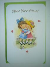 "Carlton Cards ~ ""BLESS YOUR HEART"" THANK YOU GREETING CARD + GREEN ENVELOPE"