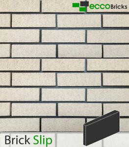 Brick Slip Wall Cladding Decoration Brick Tiles Real Clay - Fenland Ivory White