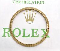 Authentic Original Rolex Datejust Fluted 18k YG Solid 34mm Bezel