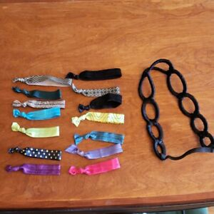 Lot of hair accessories, Goody Ribbon Elastics, headband