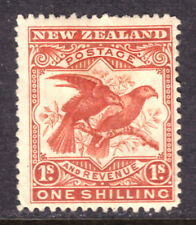NEW ZEALAND #81 1sh DULL RED, 1898, F, MINT HINGED