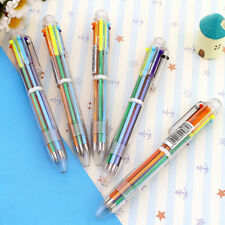 5 Pcs/Lot Pen 6 Colors In One Easy Switch Ballpoint Ball Creative Student School