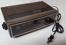 GE General Electric AM/FM Alarm Flip Clock Radio Model 7-4305C Wood Grain TESTED