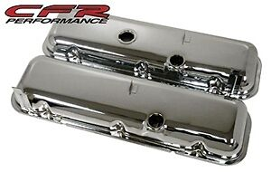 1965-72 CHEVY BIG BLOCK 396-427-454 TALL OE STYLE STEEL VALVE COVERS - CHROME